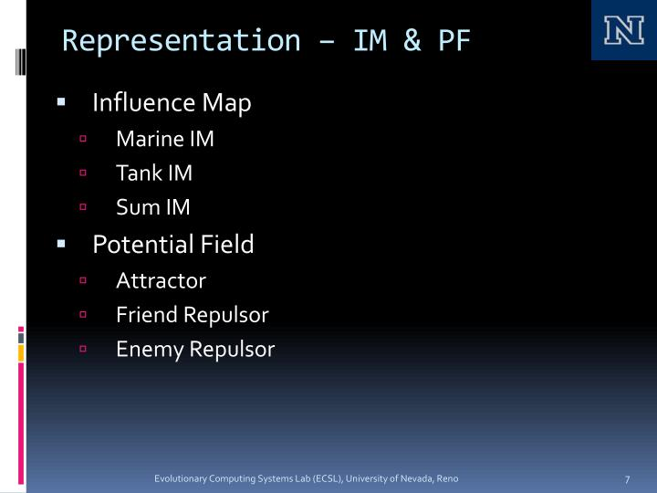 Representation – IM & PF