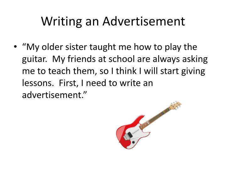 Writing an Advertisement