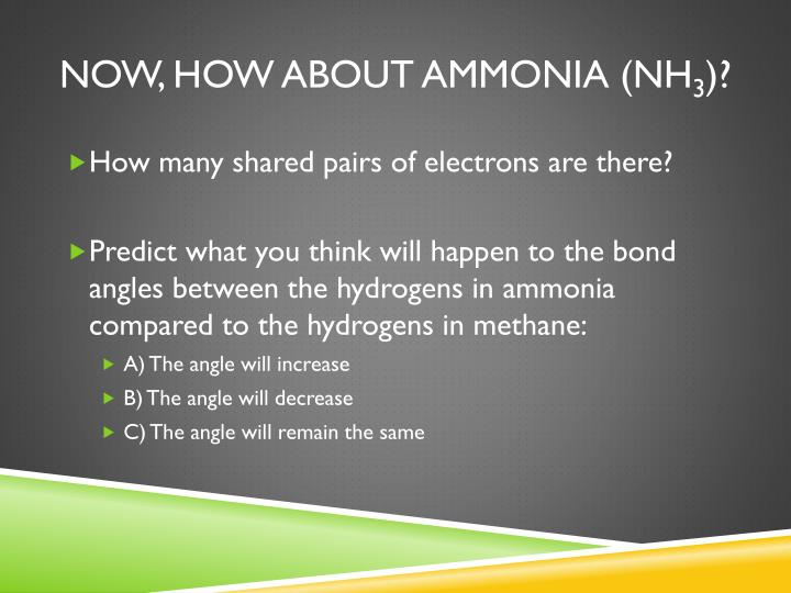 Now, how about Ammonia (NH