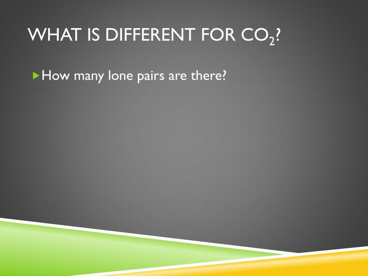 What is different for CO