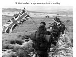 british soldiers stage an amphibious landing