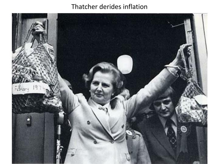 Thatcher derides inflation