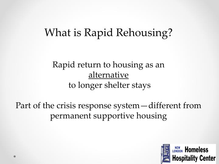 What is Rapid Rehousing?