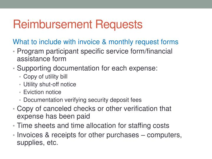 Reimbursement Requests