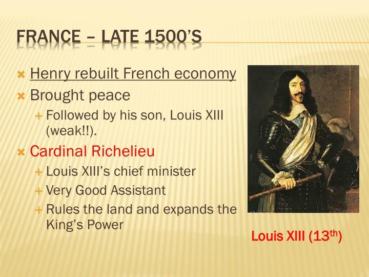Henry rebuilt French economy