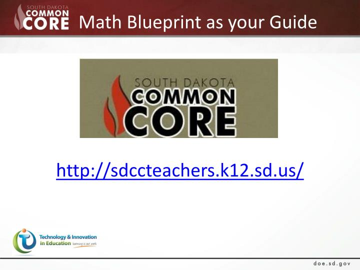 Math Blueprint as your Guide