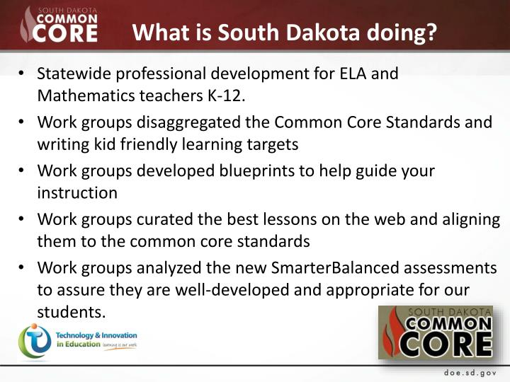 What is South Dakota doing?