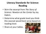 literacy standards for science reading1