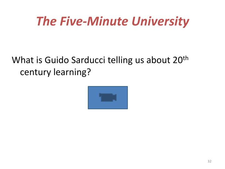 The Five-Minute University