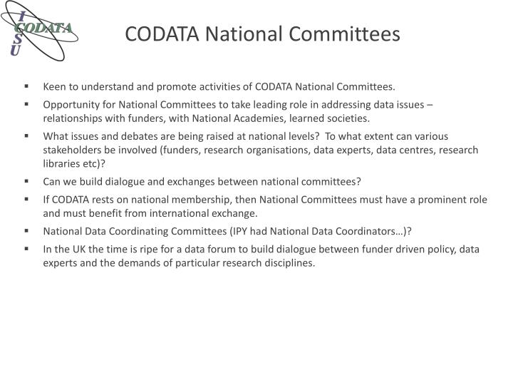 CODATA National