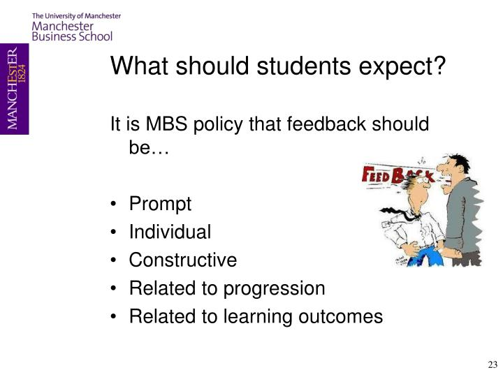 What should students expect?