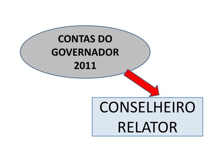 CONTAS DO GOVERNADOR 2011
