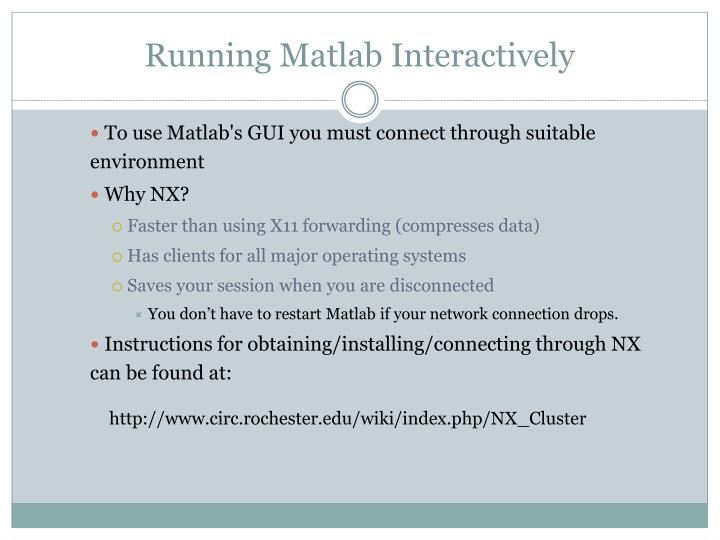 Running matlab interactively
