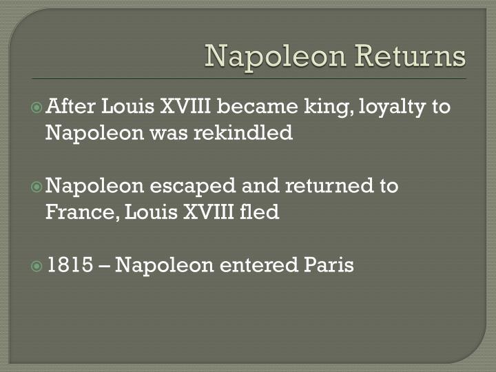 Napoleon Returns
