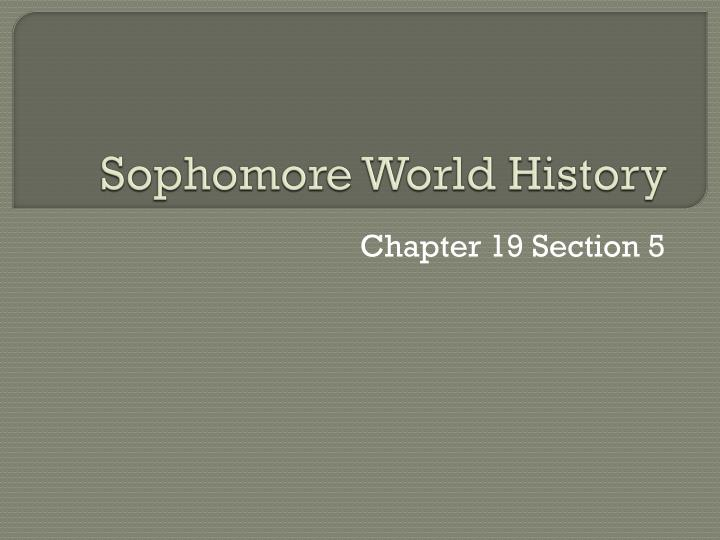 Sophomore world history