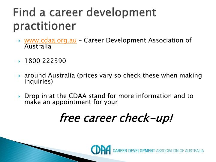 Find a career development practitioner