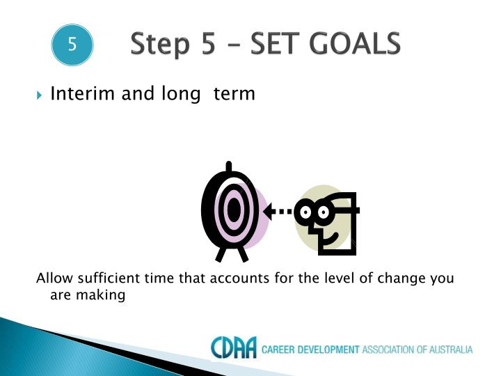 Step 5 – SET GOALS