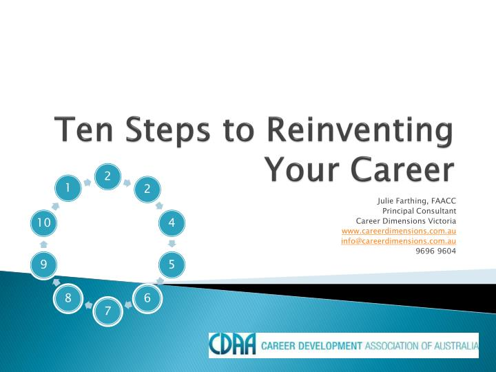 Ten steps to reinventing your career