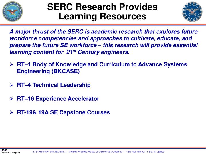 SERC Research Provides