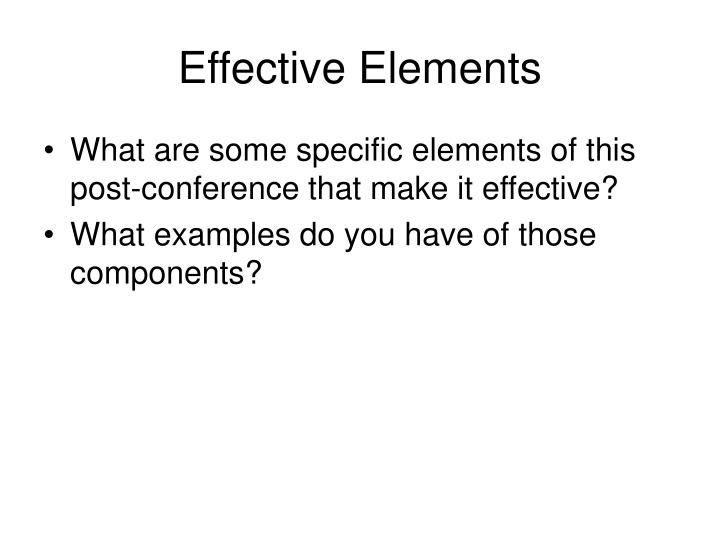 Effective Elements