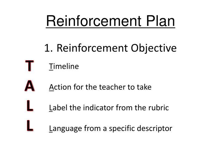 Reinforcement Plan
