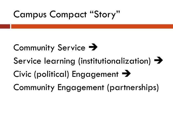 """Campus Compact """"Story"""""""