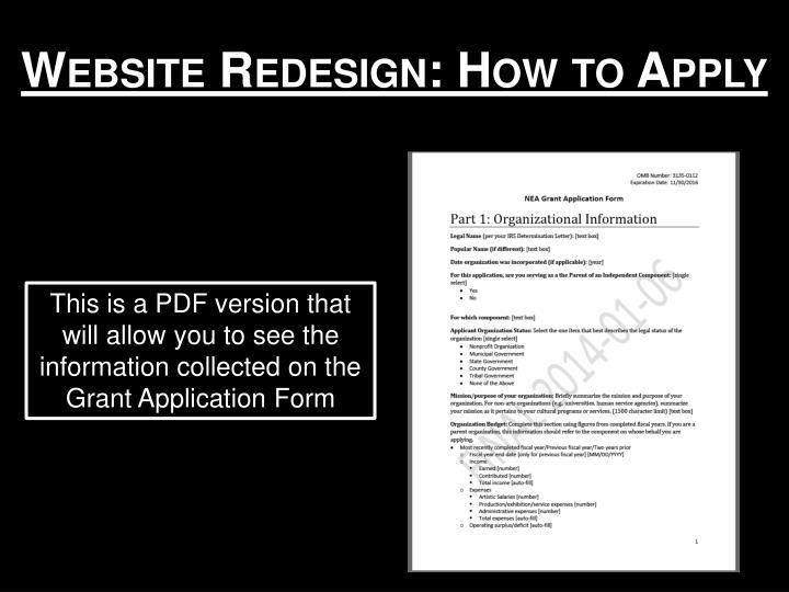 Website Redesign: