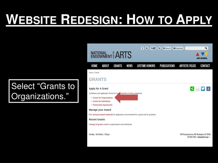 Website Redesign: How to Apply