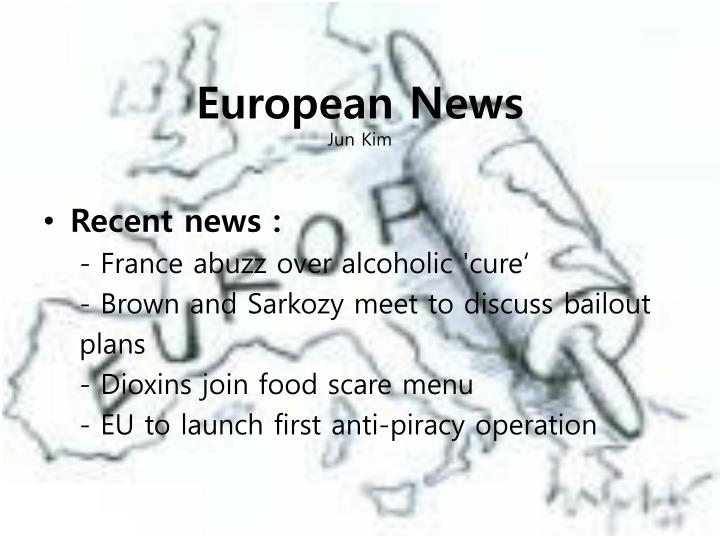 European news jun kim