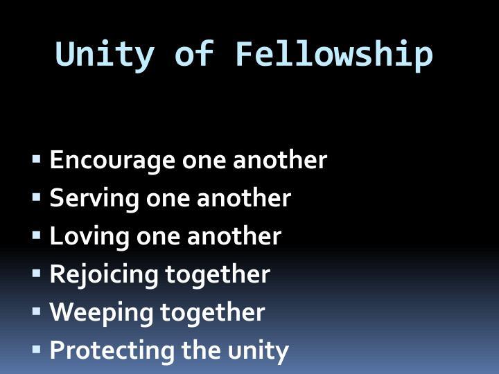 Unity of Fellowship