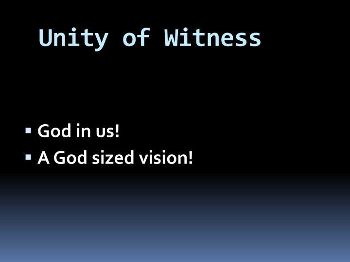 Unity of Witness