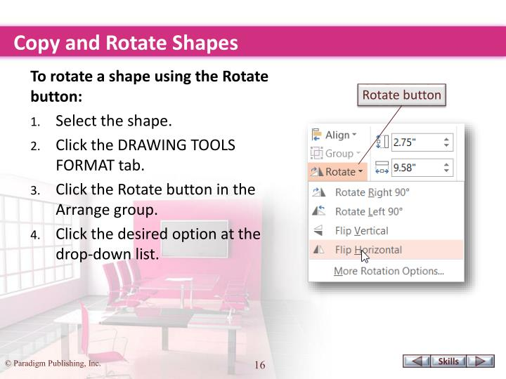 Copy and Rotate Shapes