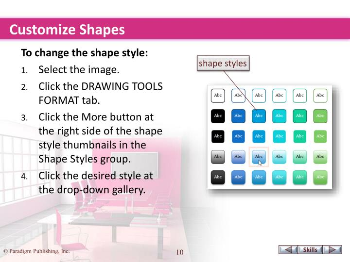 Customize Shapes