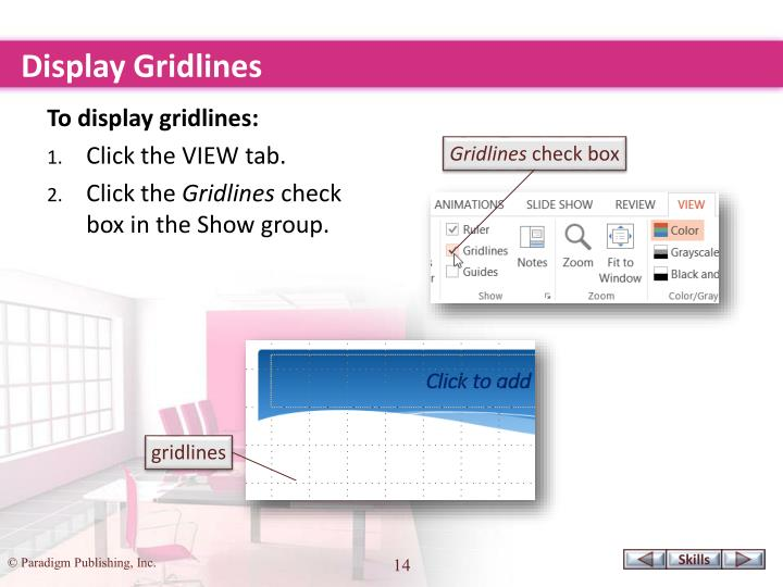 Display Gridlines