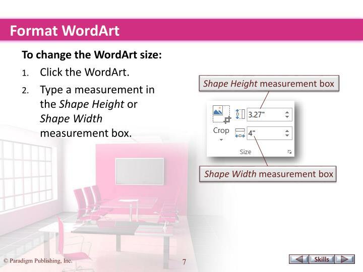 Format WordArt