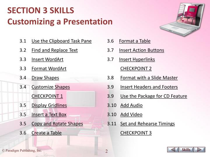 SECTION 3 SKILLS