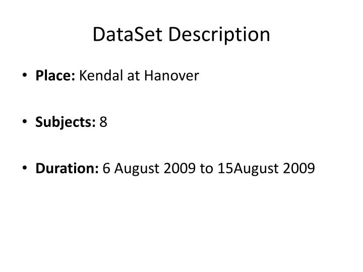 Dataset description
