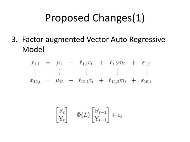 Proposed Changes(1)