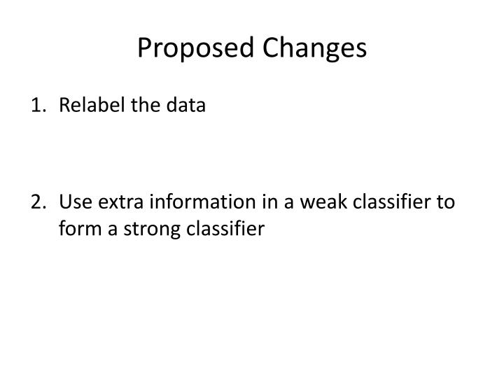 Proposed Changes