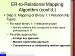 er to relational mapping algorithm cont d2
