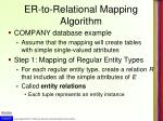er to relational mapping algorithm