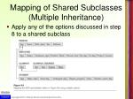 mapping of shared subclasses multiple inheritance