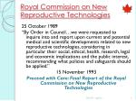 royal commission on new reproductive technologies