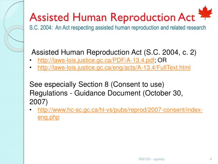 Assisted Human Reproduction Act