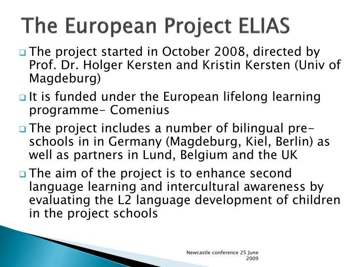 The European Project ELIAS