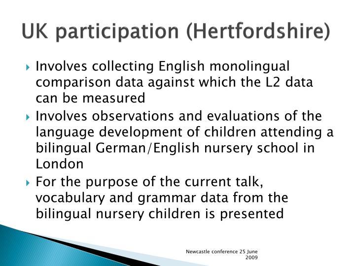 UK participation (Hertfordshire)
