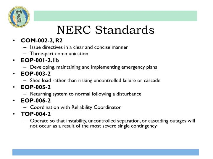 NERC Standards