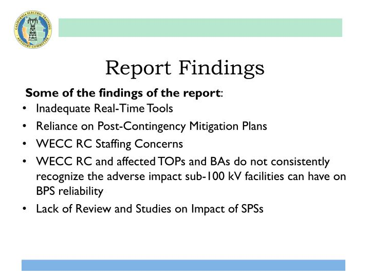 Report Findings