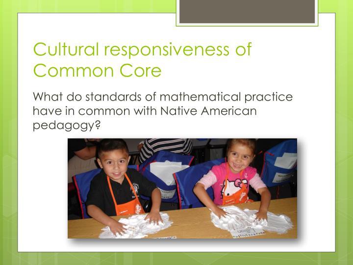 Cultural responsiveness of Common Core