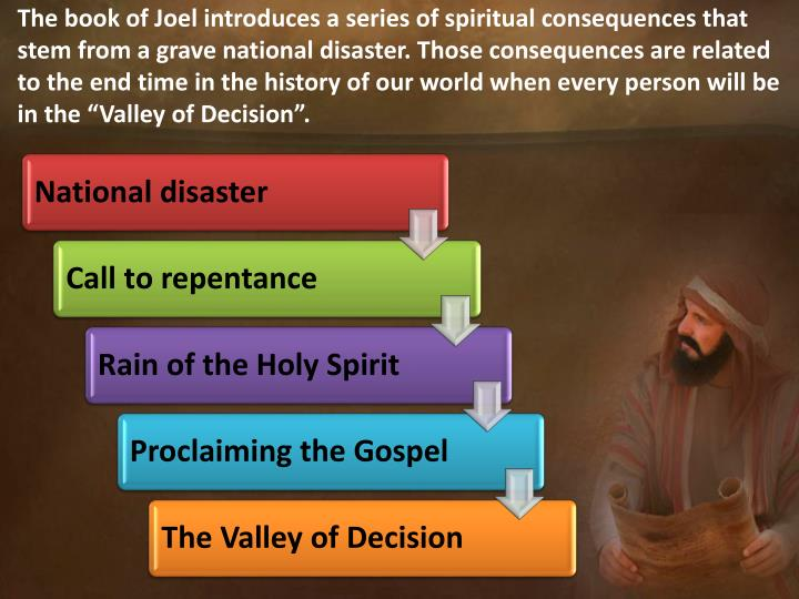 The book of Joel introduces a series of spiritual consequences that stem from a grave national disas...